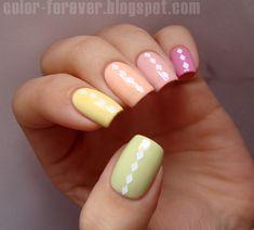 Nailpolis Museum of Nail Art | pastel skittles