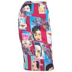 Dolce &  Gabbana Vintage chinoise Publicité : Jupe crayon années 90