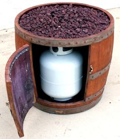 Wine Barrel Fire Pit by SmoketreeBarrelCo on Etsy