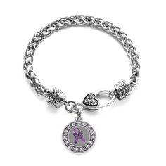 Fibromyalgia Awareness Circle Charm Bracelet