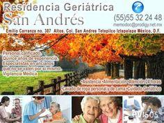 Residencia Geriátrica San Andrés  En Residencia Geriátrica San Andres nos esforzamos para brindar el mejor de los servicios en el ...  http://iztapalapa.evisos.com.mx/residencia-geriatrica-san-andres-id-612444