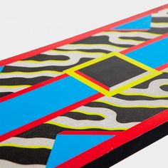 Madras  design by Nathalie Du Pasquier    Table in decorated plastic laminate, 1986.