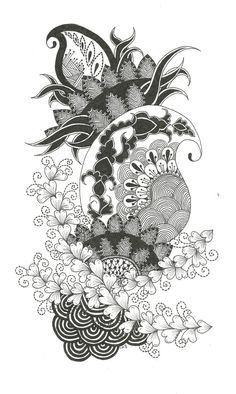 This project was created by Krishna Amin (Me!) and is available to download and print for personal use only. It is a Zentangle© Inspired Art