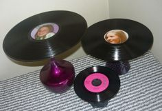 DIY Record Album Cake Stands  {Contributor: Cineca of Dreamin' N Details}