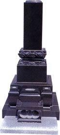 和型墓石 上下レンゲが似合う高級黒御影石製。
