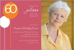 Dusty Rose 60th Birthday Surprise Party Invitation