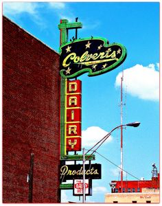 What a great old sign! I grew up drinking Colvert's milk.