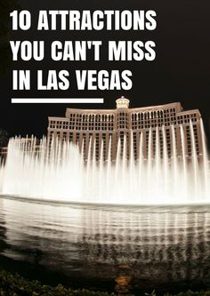 Read this before planning your next trip to Las Vegas! 10 attractions you can't miss in Las Vegas! Las Vegas Vacation, Vacation Trips, Dream Vacations, Vacation Spots, Vacation Ideas, Las Vegas Travel, Las Vegas Tourist Attractions, Vegas Getaway, Las Vegas Food