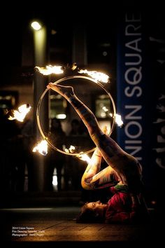 Fire Hooping with Jennifer Valentine | hooping.org