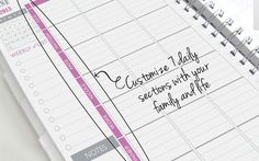 Family Planner label ideas (work, home, errands, appointments, dinner, exercise, blog)