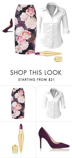 """""""office boss"""" by sophiadeleondiaz ❤ liked on Polyvore featuring beauty, LE3NO, Christian Louboutin and L.K.Bennett"""