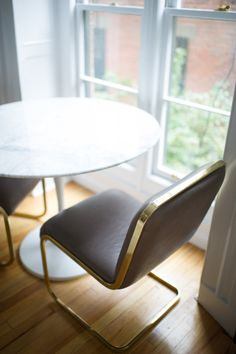 Auth Milo Baughman Pair Cantilever Chairs, Taupe in Greenwich Village, New York, NY, USA ~ Krrb