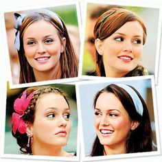 """Blair Waldorf is a popular character on TV hit series """"Gossip Girl"""" that's played by the ravishing and stylish Leighton Meester. Gossip Girl Hairstyles, Headband Hairstyles, Cool Hairstyles, Beauty Book, Hair Beauty, Blair Waldorf Headband, How To Wear Makeup, How To Wear Headbands, Blair Waldorf Style"""
