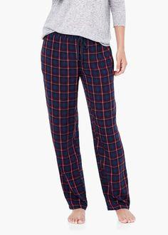Pantalón cuadros - Homewear de Mujer | MANGO