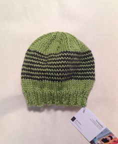 410480e2de0 Green and gray stripe baby beanie by yorkpatty on Etsy (Accessories