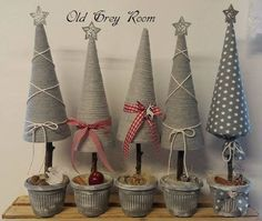 Christmas Holiday paper mache Cone Yarn Trees with berry, h Cone Christmas Trees, Wooden Christmas Trees, Christmas Sewing, Christmas Makes, Christmas Crafts For Kids, Diy Christmas Ornaments, Xmas Crafts, Christmas Decorations To Make, Christmas Projects