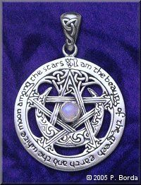 Large Moon Pentacle Pendant