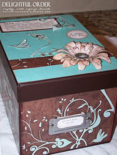 Delightful Order: Greeting Card Box Gift Idea (assortment of cards organized in a CD or photo box)