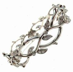 TIFFANY & CO. Diamond Platinum Bracelet 'Garland Collection'