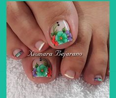Pedicure Designs, Toe Nail Designs, Manicure And Pedicure, Toe Nails, Summer Nails, Opi, Pretty Nails, Lily, Beauty
