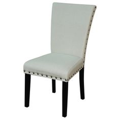 @Overstock.com - Adorno Upholstered Linen Dining Chairs (Set of 2) - Bring sophistication to your dining room with these linen dining chairs. Coming in a convenient set of two, these dining chairs are constructed of a durable poplar wood. These chairs have a beautiful, ivory upholstery and sleek, black finish.  http://www.overstock.com/Home-Garden/Adorno-Upholstered-Linen-Dining-Chairs-Set-of-2/6552005/product.html?CID=214117 $163.79
