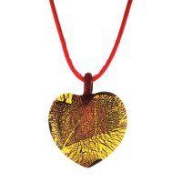 NH9026MS - Srdiečko - náhrdelník z muránskeho skla Murano Glass, Glass Jewelry, Swarovski, Christmas Ornaments, Holiday Decor, Christmas Jewelry, Christmas Decorations, Christmas Decor