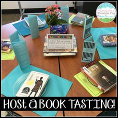 File this under lessons that must be repeated multiple times throughout the year!    I hosted my very first classroom Book Tasting yesterda...