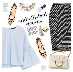 """""""make a statement: embellished sleeves"""" by jesuisunlapin ❤ liked on Polyvore featuring Volant, Miss Selfridge, STELLA McCARTNEY, Charlotte Olympia, Lulu Frost and Burberry"""