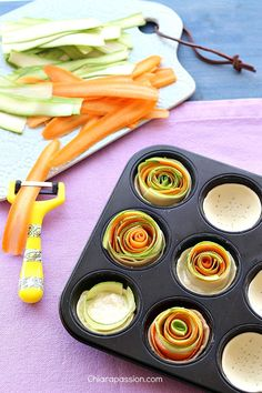 Savory tarts With Zucchini And Carrots by chiaroapassion #Tarts #Zucchini #Carrot #Cheese
