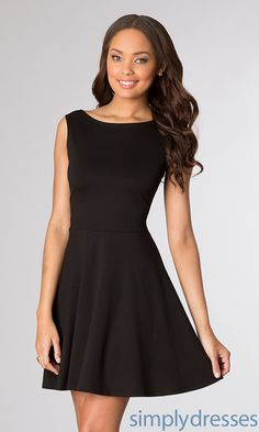 Shop semi-formal dresses at Simply Dresses. Short dresses for semi-formal events, cocktail dresses, party dresses, homecoming dresses, and semi-formal attire for parties. Black Party Dresses, Little Dresses, Short Dresses, Summer Dresses, Lil Black Dress, Simple Black Dress, Fit And Flare, Formal Dresses For Weddings, Dress Backs
