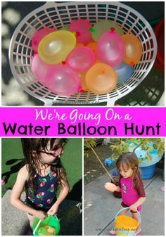 Water Balloon Hunt -- Fill up some balloons, add a learning element and hide them around the yard. Perfect for a hot day!