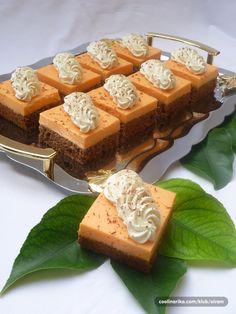 Kocke s narančom Fruit Recipes, Cake Recipes, Dessert Recipes, Cooking Recipes, Torte Recepti, Kolaci I Torte, Moon Cookies, Cake Cookies, Easy Desserts