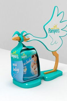 Pampers #packaging. Love the cute stork!