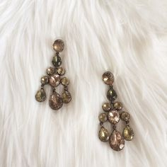 ART DECO CHANDELIER EARRINGS Worn once slight fading on back No box  **remember to bundle and save 10%** no holds/trades Stella & Dot Jewelry Earrings