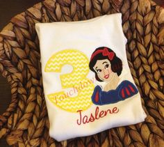 Snow White birthday onesie or top  numbers 1-9 by TouchdownTutus