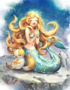Mermaid and Kitty Pray for Calmer Seas.❤