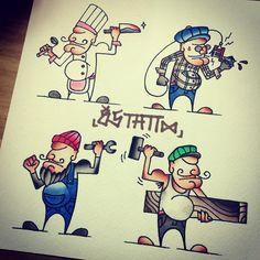 #chef #tattooer #mechanic #carpenter #job #직업