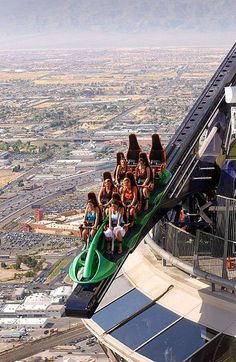 Ride the Vegas Stratosphere rides. I wanna pee my pants in fear and extreme adrenaline rushing! :)