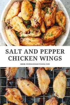 Crispy, golden, and finger-licking good, these are going to be the best salt and pepper chicken wings you've ever made! Made with pantry staples, these flavourful but budget-friendly wings are going to become a staple in your household!