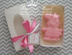 Souvenir Peppa Pig  Cajita con jabón de Glicerina Peppa  Venta en: https://www.facebook.com/detallitos.invitaciones