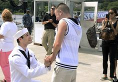 Gay Sailor Proposes To Boyfriend At Connecticut's Naval Submarine Base After 6 Month Deployment #Wedding #LGBT