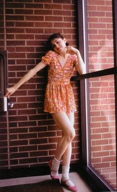 Madonna in 1976 looking super cute in a floral mini dress #dress