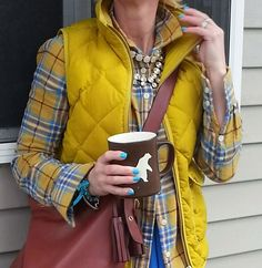 This is My Life with Coffee...: My Kinda Chicks Fall puffer vest. J Crew