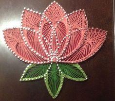 flower lotus japanese choose your color custom string art String Art Templates, String Art Tutorials, String Art Patterns, Doily Patterns, Dress Patterns, String Art Diy, String Crafts, Resin Crafts, Art Floral