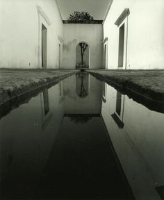 courtyard with pool, photograph by Manuel Alvarez Bravo