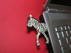 Cutest flash drive ever! Zebra USB Flash Drive by hemingwayfun on Etsy, $35.00