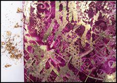 Gold gilded Gelli prints
