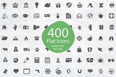 400 Icon Set by ArtFusion on Creative Market