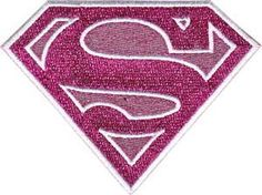 SUPERGIRL Pink Glittery Shield Logo Patch CD-PDC0026 by Preegle