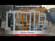 is an automatic hydraulic concrete brick paver machine production line. classical machine, it could work durable and stably, This whole production line. Concrete Bricks, Brick Pavers, Pallet Size, Concrete Mixers, Making Machine, Science And Technology